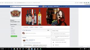 Facebook stránka E-shop