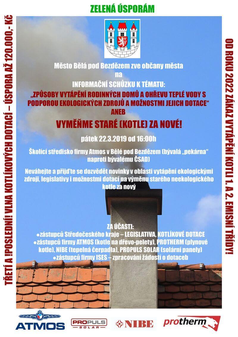 Plakát město Běla pod Bezdězem