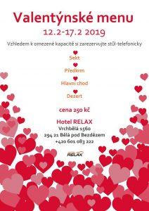 Valentýnské menu Hotel RELAX